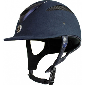 Gatehouse Conquest MK2 Riding Hat Suedette Crystal Navy