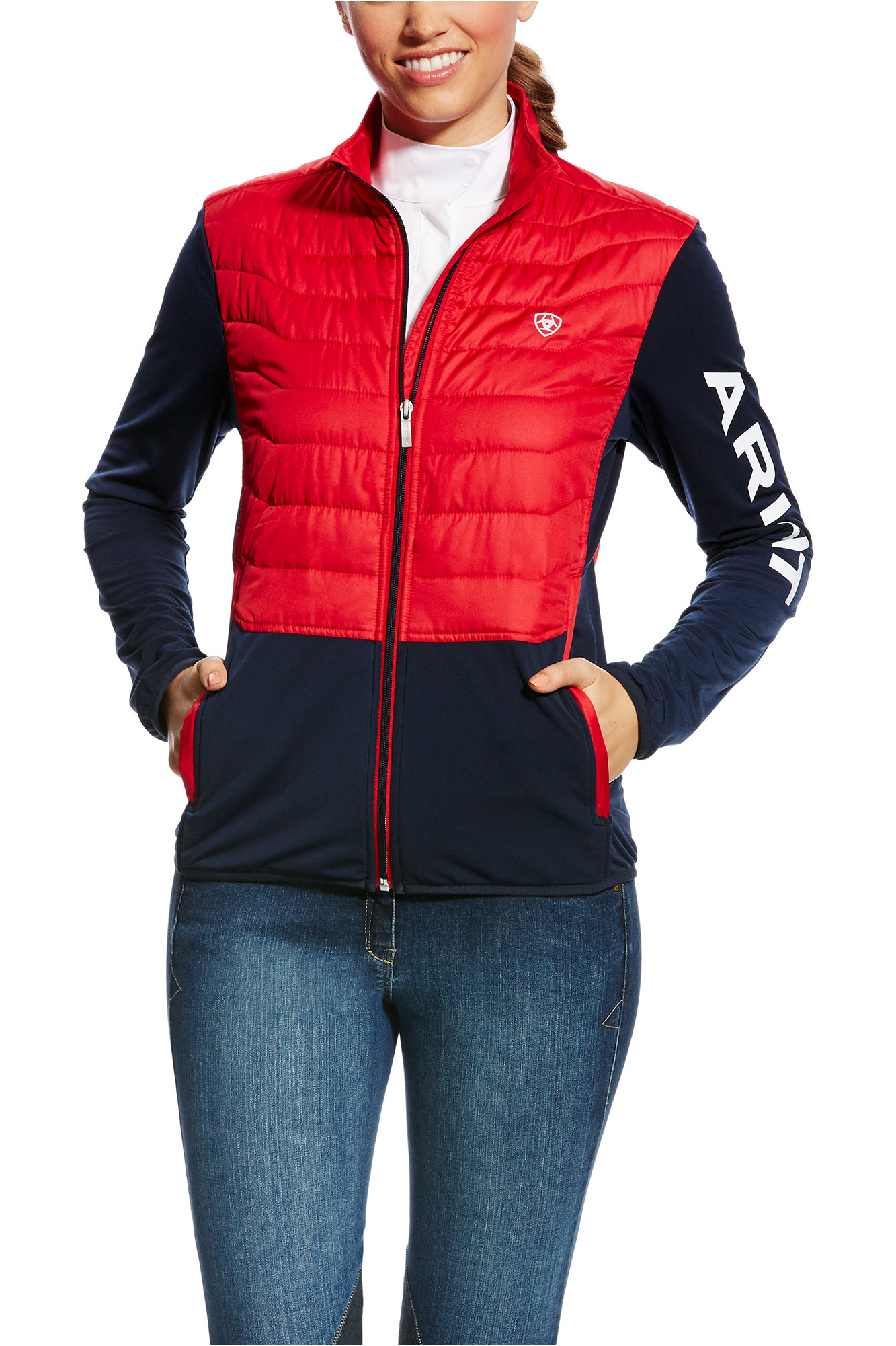 df3b2b9a795 Ariat Womens Capistrano Team Jacket Navy   Red ...