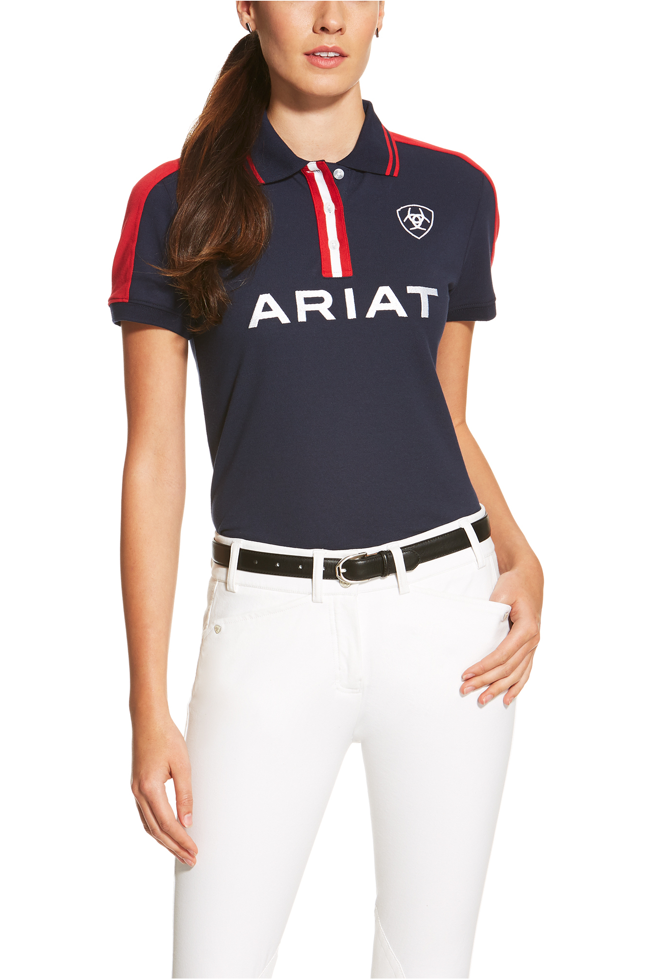 Ariat Womens New Team Polo Shirt Navy The Drillshed