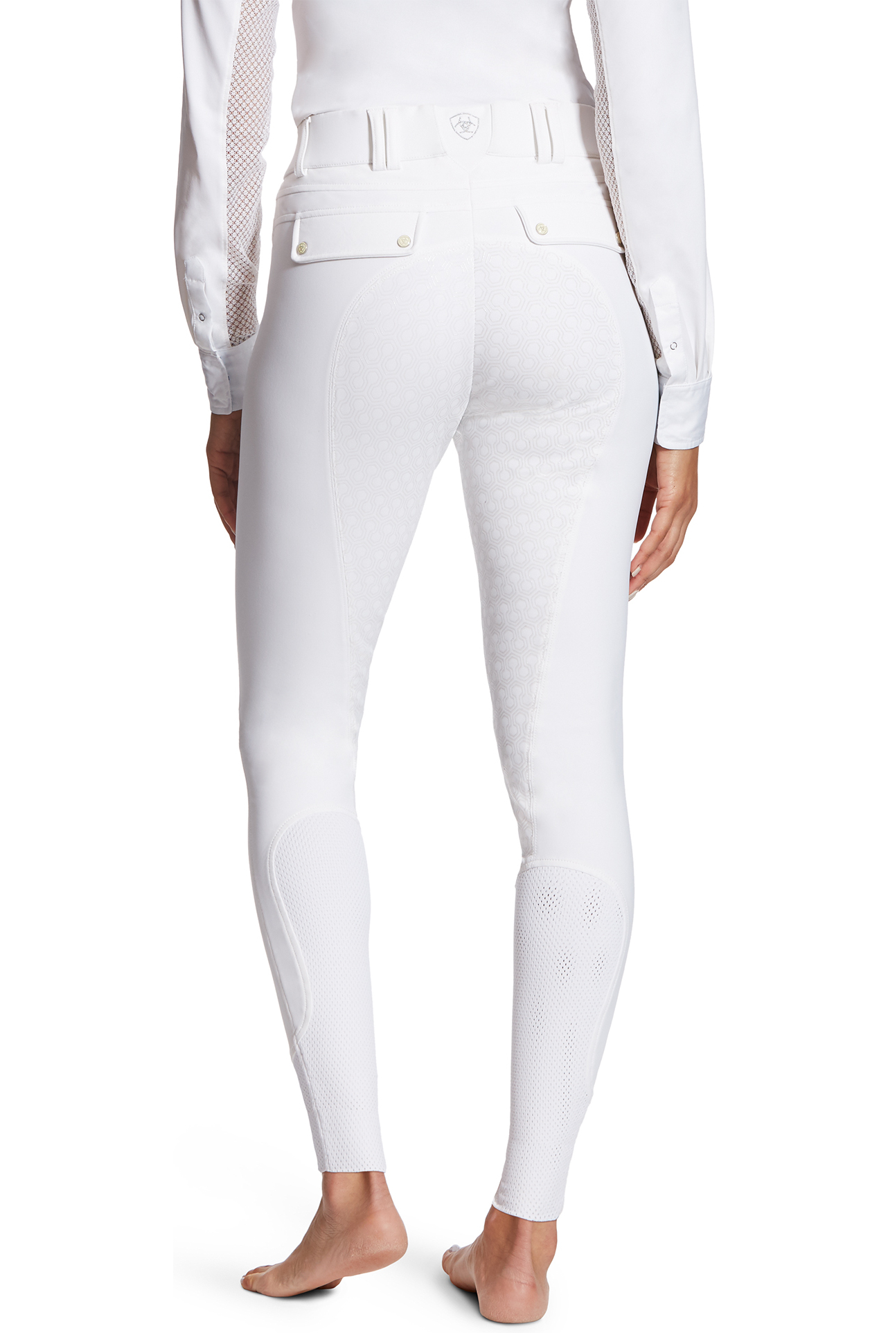 Ariat Womens Tri Factor Grip Full Seat Breeches White The Drillshed