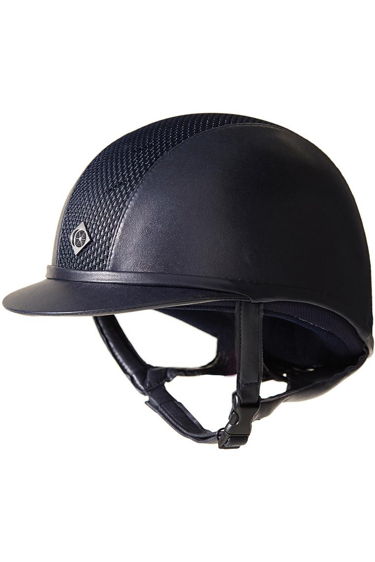 Charles Owen AYR8 Leather Look Helmet Navy