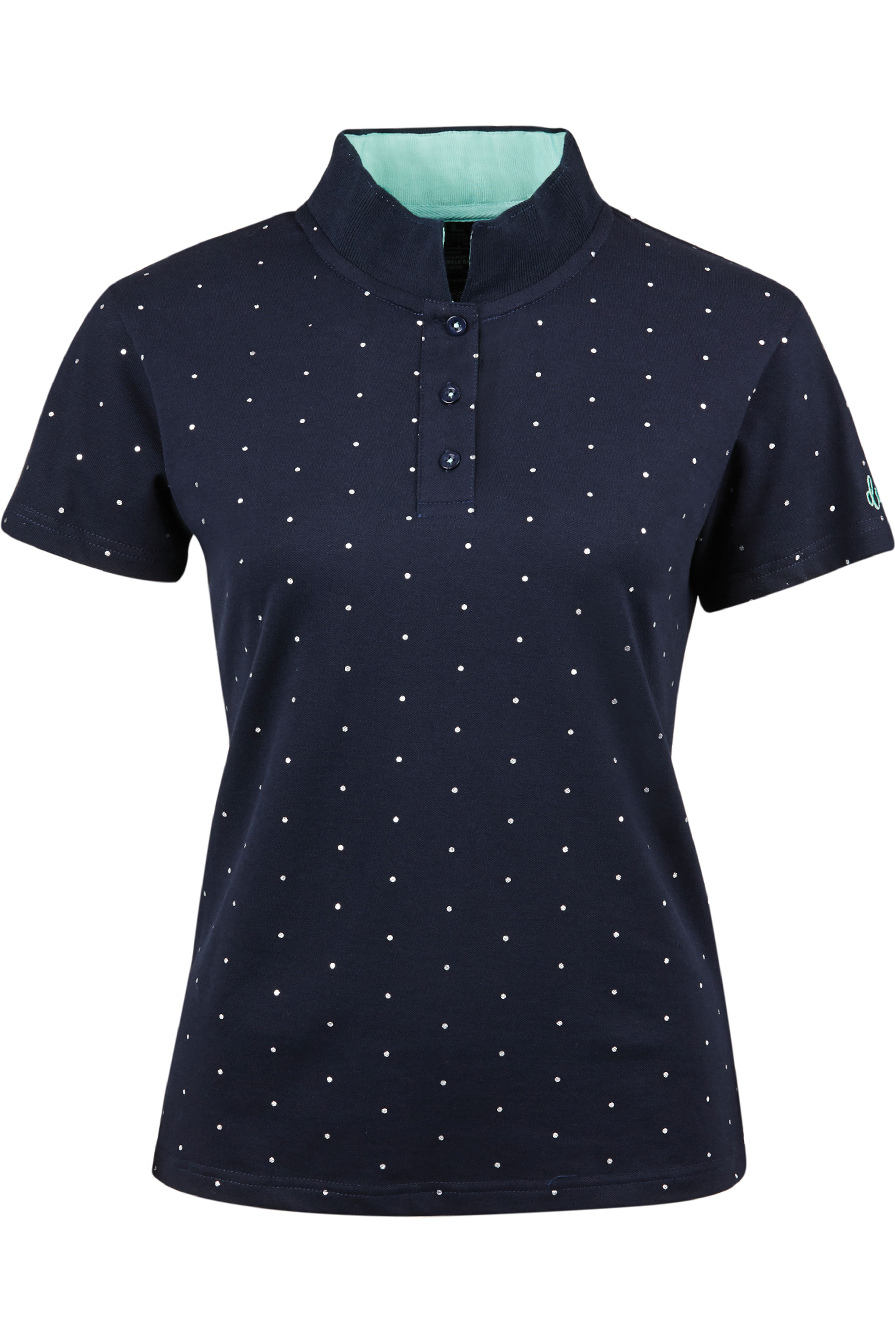 Dublin Womens Marine Short Sleeve Polo T-Shirt Navy Women's Clothing Polos