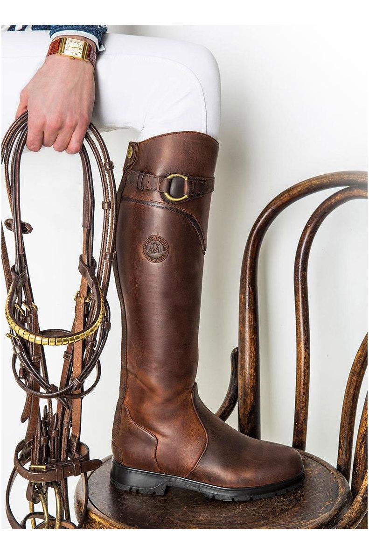 Unisex Waterproof foot part Waterproof Sprayproof Mountain Horse Mountain High Rider Legacy Boots Brown