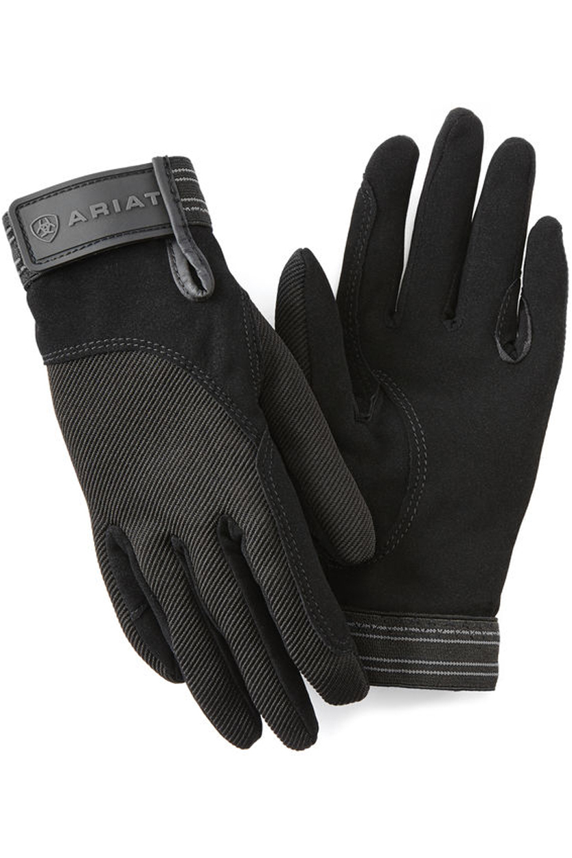 Ariat Tek Grip Glove In Black Riding Gloves The Drillshed