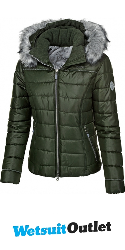 d248000d320 Pikeur Womens Jacket Amal Quilted Pine Green