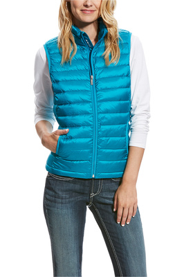 Ariat Womens Ideal Down Gilet Atomic Blue