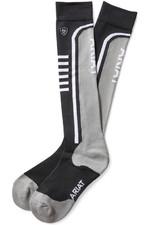 Ariat Ariattek Slimline Performance Socks Black / Sleet 10033428