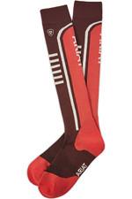 Ariat Ariattek Slimline Performance Socks Cocoa / Amrth 10036480