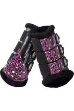 Weatherbeeta Leopard Brushing Boots 1006958004 Pink Leopard Print