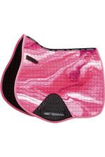2021 Weatherbeeta Prime Marble All Purpose Saddle Pad 1008702 - Pink Swirl