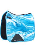 2021 Weatherbeeta Prime Marble Dressage Saddle Pad 1008703 - Blue Swirl