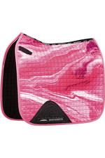 2021 Weatherbeeta Prime Marble Dressage Saddle Pad 1008703 - Pink Swirl