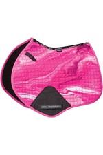2021 Weatherbeeta Prime Marble Jump Saddle Pad 1008705 - Pink Swirl