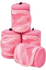 2021 Weatherbeeta Marble Fleece 3.5m Bandage 4 Pack 1008706 - Pink Swirl