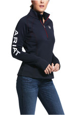 Ariat Womens 1/2 Zip Team Sweatshirt 10030527 - Navy