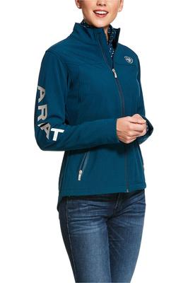 Ariat Womens New Team Softshell Jacket - Dream Teal Heather