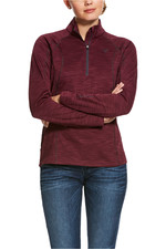 Ariat Womens Conquest 2.0 1/2 Zip Sweatshirt - Grape Wine