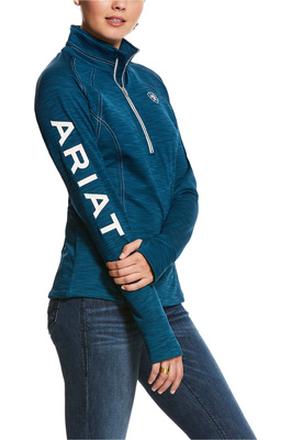 Ariat Womens Tek Team 1/2 Zip Sweatshirt - Dream Teal Heather