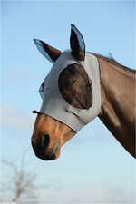 Weatherbeeta Stretch Bug Eye Saver With Eyes - Grey / Black