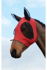 Weatherbeeta Stretch Bug Eye Saver With Eyes - Red / Black