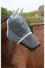 Weatherbeeta Deluxe Fly Mask With Nose - Grey