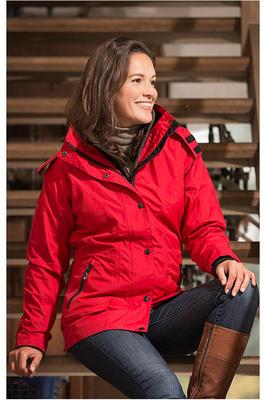 Baleno Dynamica Womens Waterproof Jacket Red
