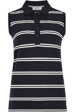 2021 Dubarry Womens Mohill Sleeveless Polo T-shirt 4017 - Navy