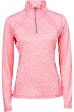 2021 Dublin Womens Maddison Long Sleeve Technical Airflow 1/4 Zip Top 10030010 - Salmon Orange