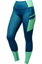 2021 Dublin Womens Power Tech Colour Block Full Grip Training Tights 10040910 - Blue Lagoon