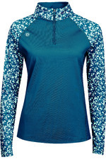 2021 Dublin Womens Tatum 1/4 Zip Long Sleeve Tech Event Top 10040820 - Blue Lagoon