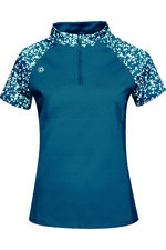 2021 Dublin Womens Tatum 1/4 Zip Short Sleeve Tech Event Top 10040830 - Blue Lagoon