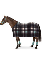 2021 Eskadron Fleece Check Sweat Rug 111470 - Navy / Balsam green