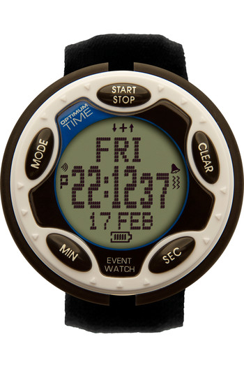 2021 Optimum Time OE Series 14R Rechargeable Jumbo Event Watch OE1460R - White
