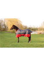 2021 Hy Equestrian StormX Original 100 Stable Rug - Thelwell Collection 3151 - Navy / Red Print