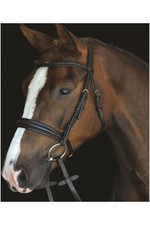 2021 Collegiate Mono Crown Padded Raised Cavesson Bridle 80088 - Brown