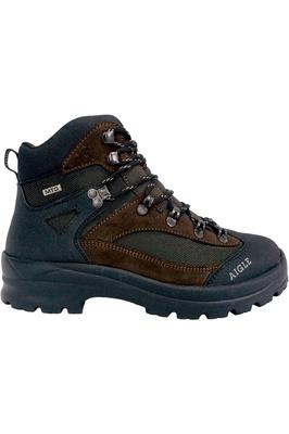 Aigle Mens Huntshaw Waterproof Hunting Boots Dark Brown