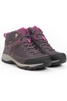 Aigle Vidur Mid Womens Waterproof MTD Boots Asphalte / Dahlia