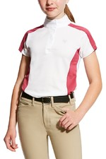 Ariat Girls Aptos Shirt Block Rose Violet /  Powder Blue