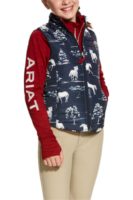 Ariat Girls Emma Reversible Insulated Vest Shadow Pasture Print