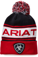 Ariat Unisex Team Beanie - Red / Navy
