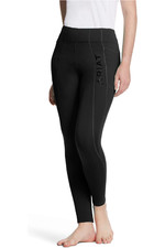 Ariat Womens Attain Thermal Knee Patch Insulated Grip Tights - Black