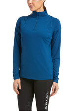 Ariat Womens Auburn 1/4 Zip Baselayer Top 10034846 - Blue Opal