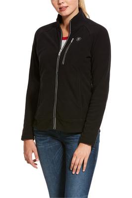 Ariat Womens Basis 2.0 Full Zip Fleece Jacket Black