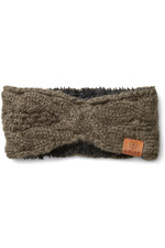 Ariat Womens Cable Headband - Banyan Bark