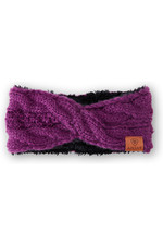 Ariat Womens Cable Headband - Imperial violet