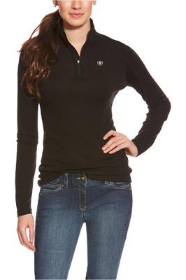 Ariat Womens Cadece Wool 1/4 Zip Baselayer Top Black