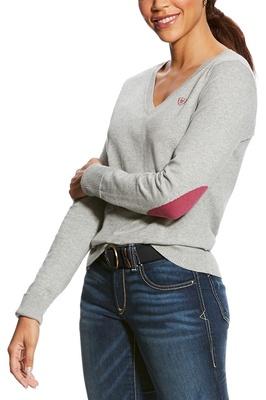 Ariat Womens Cotton Ramiro Sweater Heather Grey