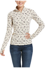 Ariat Womens Lowell 2.0 1/4 Zip Baselayer - Hunt Print