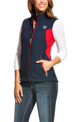 Ariat Womens New Team Softshell Vest Navy