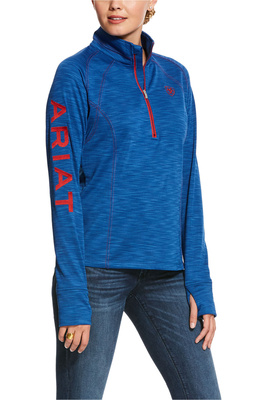 Ariat Womens Tek Team 1/2 Zip Sweatshirt Blue